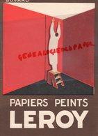 77- PONTHIERRY- BUVARD PAPIERS PEINTS LEROY- TRES BEAU GRAPHISME - Blotters