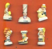 Lot De 6 Feves Porcelaine Sur La Cuisine - Cuisiniers - Galette - Characters