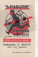 75-PARIS-69-LYON-13-MARSEILLE-BUVARD LE DIBLOTIN-DIABLE-ETABLISSEMENT A. ROLLET -RAMONAGE CHEMINEE SUIE - Buvards, Protège-cahiers Illustrés