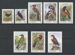 ZAMBIE 1987 N° 376/383 ** Neufs MNH TB à Superbes C 22 € Oiseaux Falco Birds Faune Fauna Animaux - Zambia (1965-...)