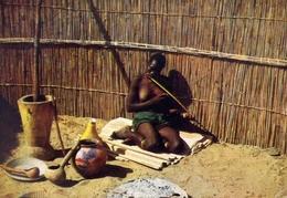 Periple En Afrique Australe - IV - Bechuanaland - Femme Jouant A L'arc Musical - Donnina - Nudo - Sex - Erotico - Format - Cartoline