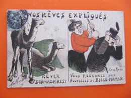 CPA -  Illustrateur : LEON ROZE - VOS RÊVES EXPLIQUES - DROMADAIRES : BELLE MERE - Illustrators & Photographers