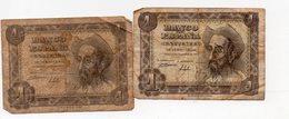 Espagne Lot De 2 Billets 1 Peseta 1951.. (PPP16041) - 1-2 Pesetas