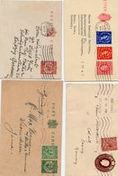 GB: Four Used Stationaries (1 Envelope, 1 Letter-card, 2 Post-cards), See Scan - Great Britain