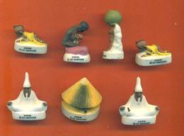 Lot De 7 Feves Porcelaine Mat Sur Kirikou Dont 2 Double - Disney