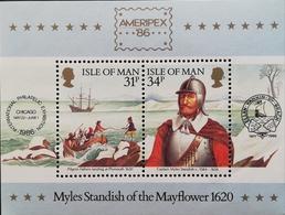 "Isle Of Man  AMERIPEX""86 S/S - Isle Of Man"
