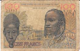 Billet De 100 Frs : Banque Centrale Des Etats De L'Afrique De L'Ouest. (Voir Commentaires) - Autres - Afrique