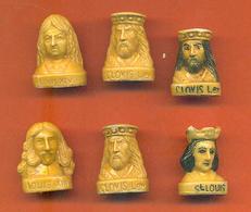 Lot De 6 Feves Porcelaine Sur Les Rois De France Dont 1 Double - Characters