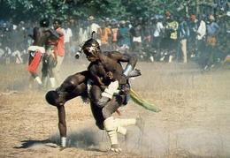 Guinea - Bissau - Africa Occidentale - Festa Della Lotta Presso La Tribù Felupe - Formato Grande Non Viaggiata – E 9 - Guinea-Bissau