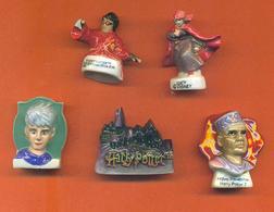 Lot De 5 Feves Porcelaine Dont 3 Sur Harry Potter - Disney