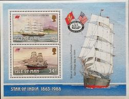 Isle Of Man  1988 Historic Ships Build On The Isle S/S - Isle Of Man