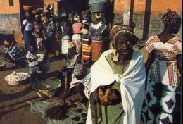 Guinea - Bissau - Africa Occidentale - Mercato A Bissau - Formato Grande Non Viaggiata – E 9 - Guinea-Bissau