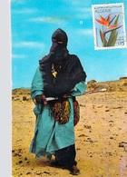 Algérie > (Scènes & Types) HOGGAR HOMME BLEU- Voir ETAT - TIMBRE STAMP ALGERIE Strelitzia Reginae (oiseau De Paradis) - Scènes & Types
