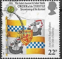 GREAT BRITAIN 1987 300th Anniv Of Revival Of Order Of The Thistle - 22p - Scottish Heraldic Banner Of Prince Charles FU - Used Stamps