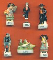 Lot De 6 Feves Porcelaine Sur La Serie De Hansi Dont Une à Recoller - Characters