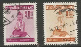 Thailand - 1960 Children's Day Used    Sc 343-4 - Thailand