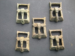 Medieval Belt Buckles 5 Pieces Europe 10-12 Centuries - Archaeology