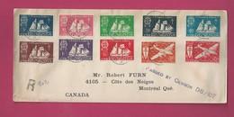 Lettre Recommandée Pour Le Canada De 1942 - YT N° 296 à 303 Et PA N° 4 Et 5 - Série De Londres - France Libre - St.Pierre & Miquelon