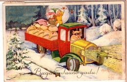 HAPPY NEW YEAR Piglets. E.Plates Edition Riga 1935 - Pigs