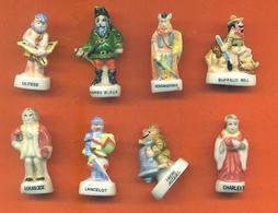 Lot De 8 Feves Porcelaine Sur Les Personnages Célèbres - Characters