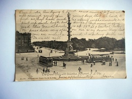 CPA NEW YORK CITY THE GRAND CIRCLE WITH COLUMBUS MONUMENT - Piazze