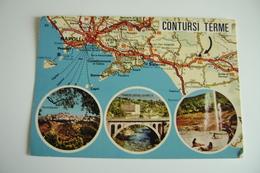 CONTURSI TERME SALERNO   MAPPA MAPS     Carte Geographique   CARTINA GEOGRAFICA   NON VIAGGIATA    COME DA FOTO - Carte Geografiche