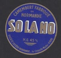 Etiquette De Fromage  Camembert  -  SO LA NO  -   La Chapelle Moche  (d'Andaine)   (61) - Cheese