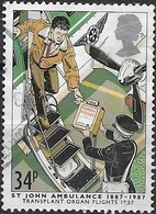GREAT BRITAIN 1987 Centenary Of St. John Ambulance Brigade - 34p - Transport Of Transplant Organ By Air Wing, 1987 FU - Used Stamps