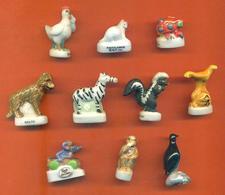 Lot De 10 Feves Porcelaine Sur Les Animaux Diverses - Animals