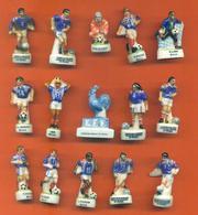 Lot De 15 Feves Porcelaine Sur Le Football Joueurs Equipe De France 1998 - Sports