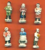 Lot De 6 Feves Porcelaine Sur Les Metiers Du Village - Characters
