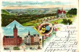 Essen, Farb-Litho, 1900 Nach Münster Versandt - Essen