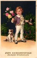 Geburtstag, Junge Mit Rosen Und Zylinder, Hund, 1931 - Geburtstag