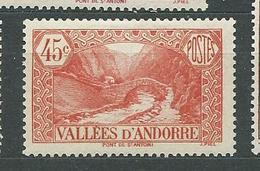 ANDORRE  N°  34  *  TB  2 - Andorra Francesa