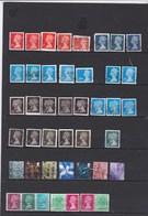 Lot De 43 Timbres Type Machin Et Provinces.  Bcp. Issus De Carnets à Bord(s) Non Dentelés - 1952-.... (Elizabeth II)
