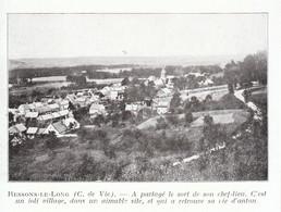 1924 - Iconographie - Ressons-le-Long (Aisne) - Vue Générale - FRANCO DE PORT - Non Classés