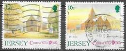 Jersey - Noël - Y&T N° 447 / 448 - Oblitérés - Lot 280 - Jersey