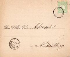 23 JUL 91 Drukwerk Als Ontvangstbevestiging Van Een Postwissel Van Amsterdam Naar Middelburg Met NVPH31 - Periode 1891-1948 (Wilhelmina)