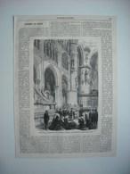 GRAVURE 1869. ESPAGNE. PURIFICATION DE LA CATHEDRALE DE BURGOS, APRES LE MEURTRE DU GOUVERNEUR CIVIL. - Prints & Engravings