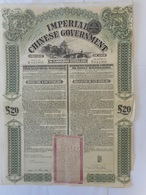 CHINA Imperial CHINESE GOVERNMENT 1908       £20 - Autres