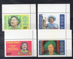 TANZANIE   Timbres Neufs ** De 1985 ( Ref 5815 ) Famille Royale - Queen Mother - Tanzanie (1964-...)