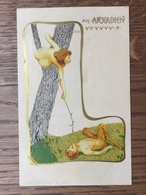 Art Nouveau - Raphael Kirchner - Aus Arkadien - Rif. Dell'Aquila B3-5 - Kirchner, Raphael