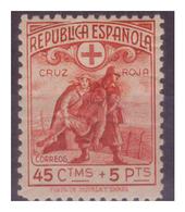 SPAGNA - 1938 - PRO CROCE ROSSA. GOMMA CON NUMEROSE PIEGHE. - MH* - 1931-Oggi: 2. Rep. - ... Juan Carlos I