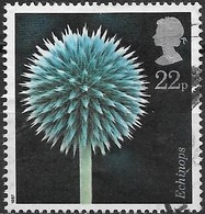 GREAT BRITAIN 1987 Flower Photographs By Alfred Lammer - 22p - Globe Thistle FU - Used Stamps