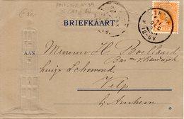 31 DEC 98 Ansicht Van Utrecht Naar Velp Met Domtoren  Met NVPH34 - Periode 1891-1948 (Wilhelmina)