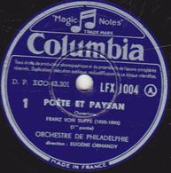 78 Trs - 30 Cm - état EX - POETE ET PAYSAN - Ouverture 1 Et 2 Fin - ORCHESTREDE PHILADELPHIE  FRANZ VON SUPPE - 78 T - Disques Pour Gramophone