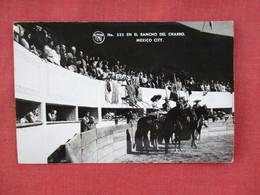 RPPC  Mexico Bull Fight    En El Rancho Del Charro  .  Has  Mexico Stamp Cancel     Ref 3077 - Corrida