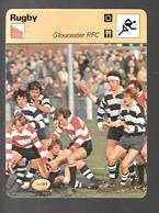 GF344 - FICHE EDITION RENCONTRE - RUGBY - GLOUCESTER RFC - Rugby