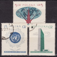 POLAND 1957 Mi 998-1000 - UNO - USED VF - Used Stamps