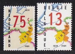 België/Nederland - 150e Verjaardag Van Limburg - Gemeenschappelijke Uitgave Van Belgisch En Nederlands Limburg - Gezamelijke Uitgaven